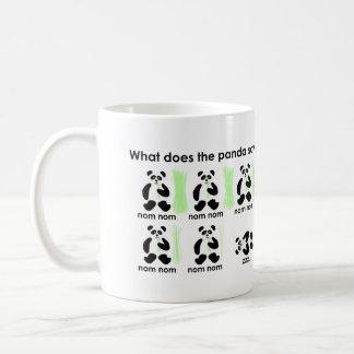 ¿Qué hace la panda dice? Taza Clásica