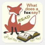 Qué hace un Fox para decir a los pegatinas de la Colcomanias Cuadradas