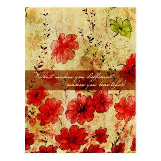 Qué hace usted diferente le hace hermoso tarjetas postales