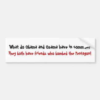 Qué hacen Obama y Osama tienen en el co… - Modific Pegatina Para Auto