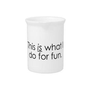 Qué hago para la diversión jarras de beber