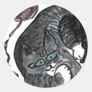 ¿Qué hilado? pide, Bob el gatito Pegatina Redonda