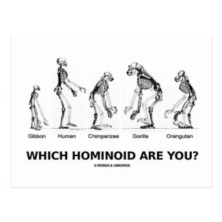 ¿Qué Hominoid son usted Esqueletos Hominid Postales