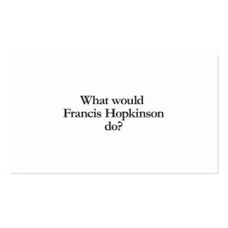 qué hopkinson de Francisco haría Tarjetas De Visita