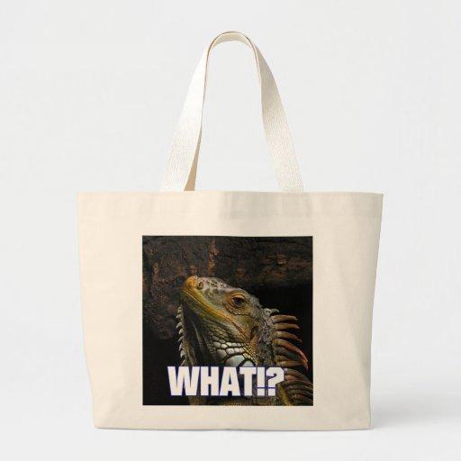 ¿Qué!? Iguana Bolsa Tela Grande