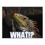 ¿Qué!? Iguana Invitación 10,8 X 13,9 Cm