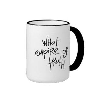 Qué imperio de la verdad taza de dos colores