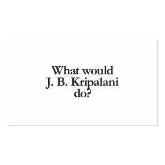 qué j b Kripanlani haría Tarjetas De Visita