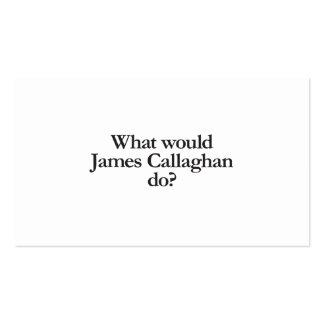 qué james callaghan haría tarjetas de visita