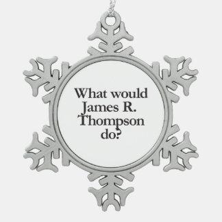 qué james r thompson haría adorno de peltre en forma de copo de nieve