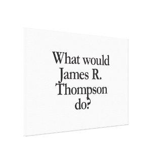 qué james r thompson haría lona envuelta para galerias