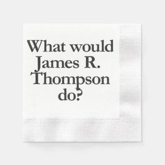 qué james r thompson haría servilletas de papel