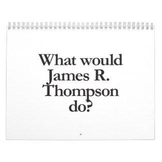 qué james r thompson haría calendario de pared
