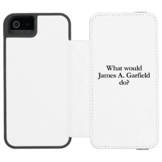 qué james un Garfield haría Funda Billetera Para iPhone 5 Watson