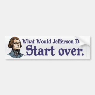 ¿Qué Jefferson haría? Pegatina para el parachoques Etiqueta De Parachoque