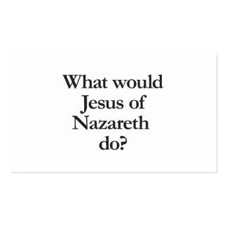 qué Jesús de Nazaret haría Tarjetas De Visita