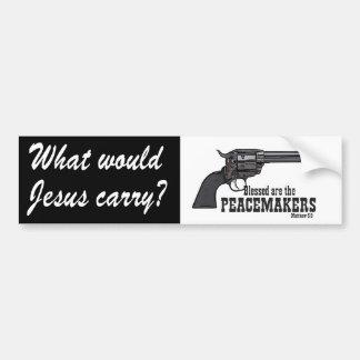 ¿Qué Jesús llevaría? Blessed es el pacificador Pegatina De Parachoque