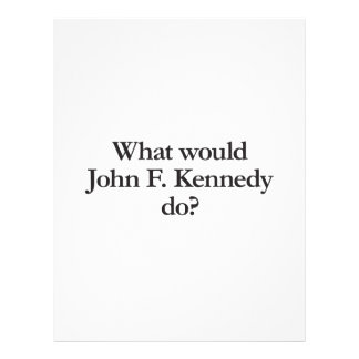 qué John F. Kennedy haría Folleto 21,6 X 28 Cm