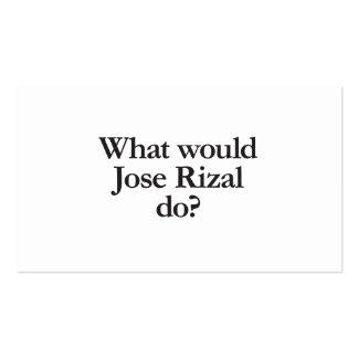 qué Jose rizal haría Tarjetas De Visita