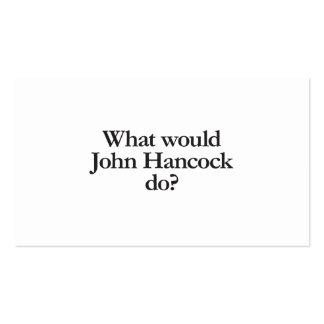 qué Juan hancock haría Tarjetas De Visita