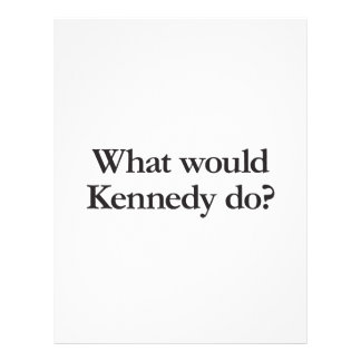 qué Kennedy haría Folleto 21,6 X 28 Cm
