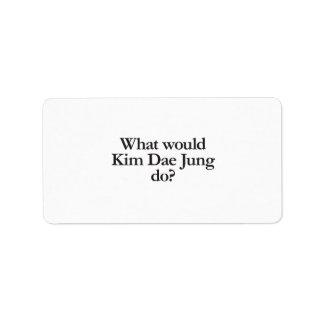 qué Kim Dae Jung haría Etiquetas De Dirección