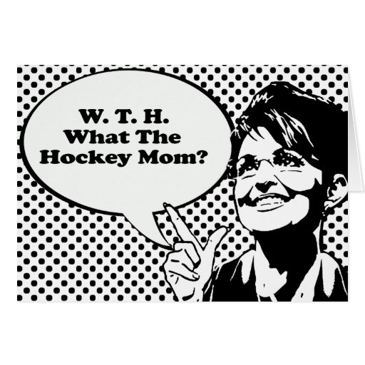 Qué la mamá del hockey tarjeta de felicitación