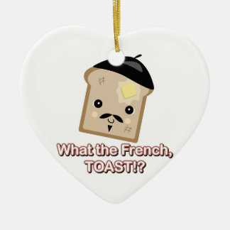 qué la tostada francesa adorno de cerámica en forma de corazón