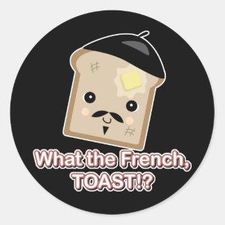 qué la tostada francesa etiqueta redonda