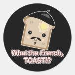 qué la tostada francesa pegatina redonda