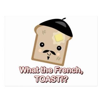 qué la tostada francesa tarjeta postal