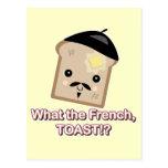 qué la tostada francesa tarjetas postales