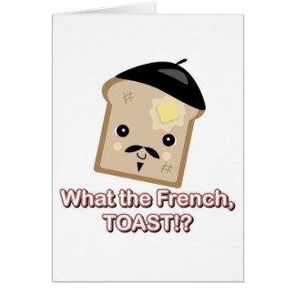 qué la tostada francesa tarjeton