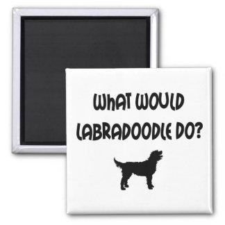 ¿Qué Labradoodle haría? Camisetas y regalos Imán Cuadrado