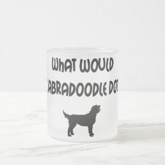 ¿Qué Labradoodle haría? Camisetas y regalos Taza De Cristal
