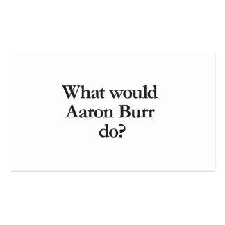 qué las rebabas de Aaron haría Tarjetas De Visita