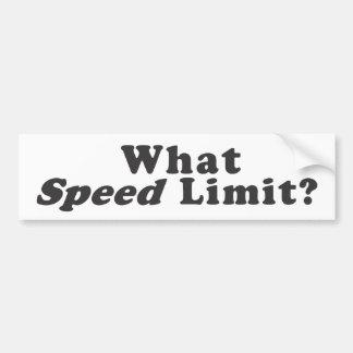 ¿Qué límite de velocidad? - Pegatina para el parac Etiqueta De Parachoque