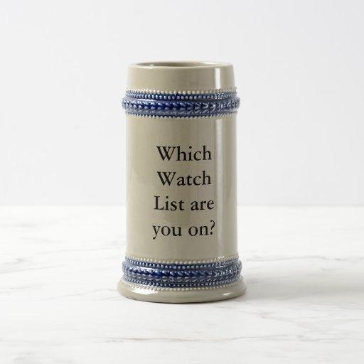 ¿Qué lista del reloj está usted encendido? Jarra De Cerveza