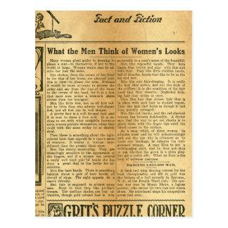 Qué los hombres piensan en las miradas 1907 de las tarjeta postal