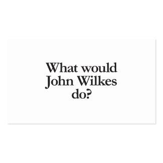 qué los wilkes de Juan haría Tarjetas De Visita