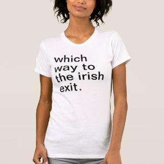 qué manera a la salida irlandesa camisetas