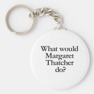 qué Margaret Thatcher haría Llavero Redondo Tipo Pin