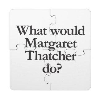 qué Margaret Thatcher haría Posavasos De Puzzle