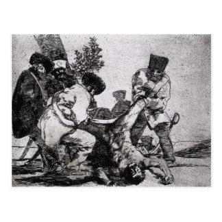 ¿Qué más pueden uno hacer? por Francisco Goya Tarjeta Postal