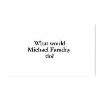 qué Michael Faraday haría Tarjetas De Visita