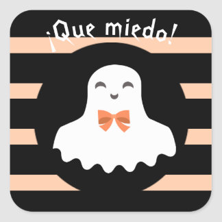"""""""Que miedo/ How Spooky!"""" Cute Sticker with Ghost"""