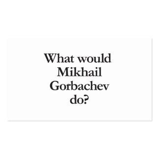 qué mihail gorbachev haría tarjetas de visita