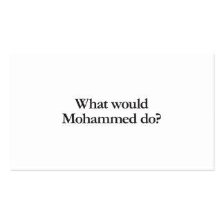 qué mohammed haría tarjetas de visita