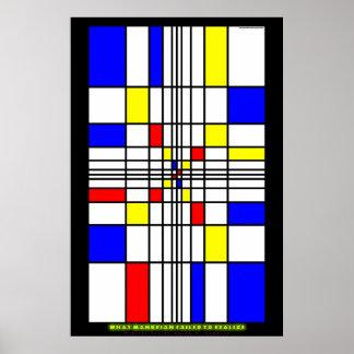 Qué Mondrian no pudo realizar Póster