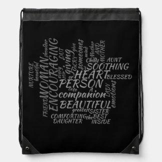Qué mujeres digno de bolso de lazo mochilas